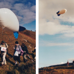 After filling the blimp, we soon discovered taking aerial photography from a glorified balloon isn't easy
