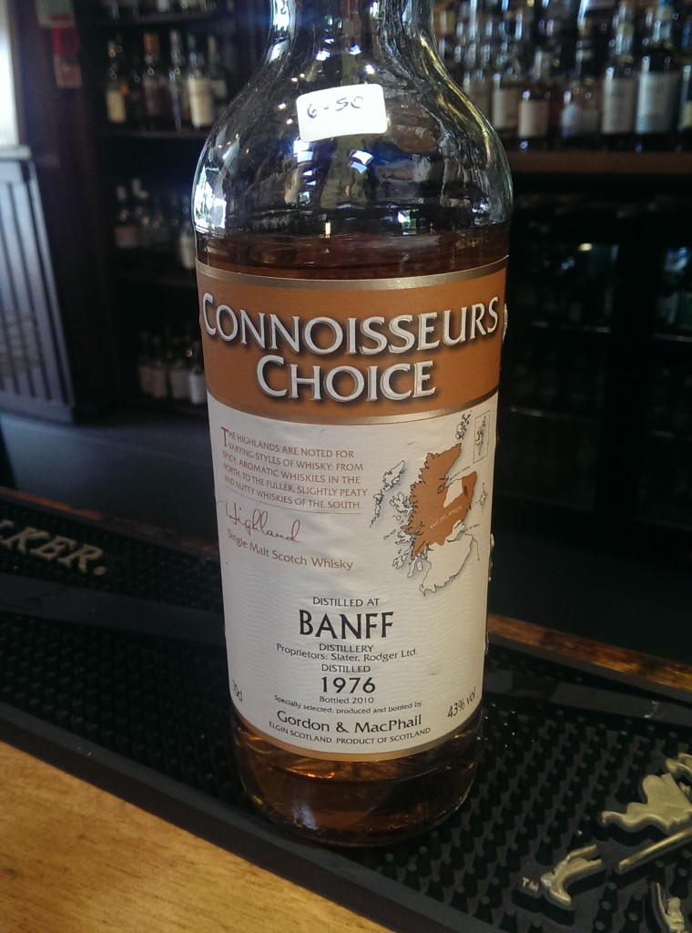 It's not often you see Banff on the whisky menu..