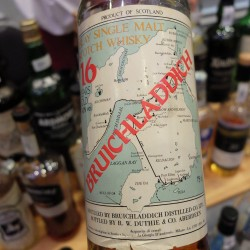 Bruicladdich 16yo - Map Label