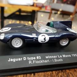 Ecurie Ecosse Jaguar D Type #3 Le Mans 1957 Model