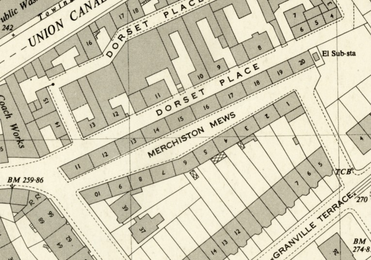 Map of Merchiston Mews